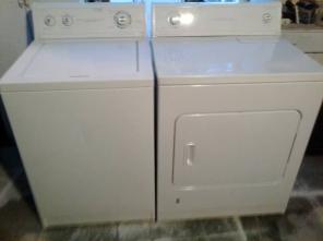 ESTATE HEAVY DUTY GAS DRYER & WASHER SET